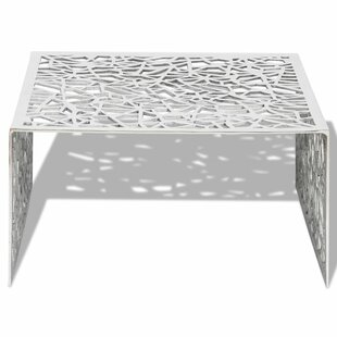 Eleanor Geometric Openwork Aluminium Coffee Table By Metro Lane