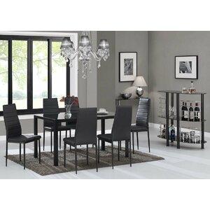 Rosenzweig Glass Top Dining Set (Set Of 7)