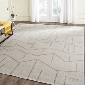 Dunclug Ivory/Grey Indoor/Outdoor Area Rug