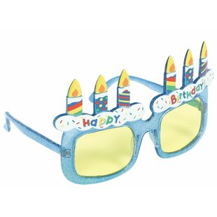 Bright Birthday Cake Funshades Plastic Disposable Party Favor (Set of 3)