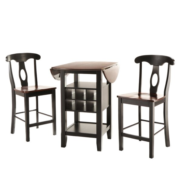 three posts bayford 3 piece counter height pub table set u0026 reviews wayfair