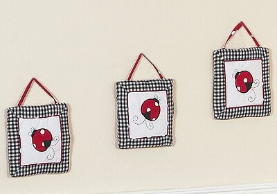 3 Pc Little Ladybug Wall Hanging Set