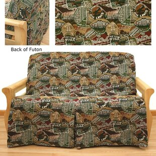 Travel Skirted Box Cushion Futon Slipcover