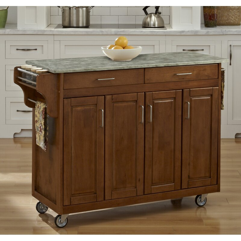 Incroyable Create A Cart Kitchen Island With Concrete Top