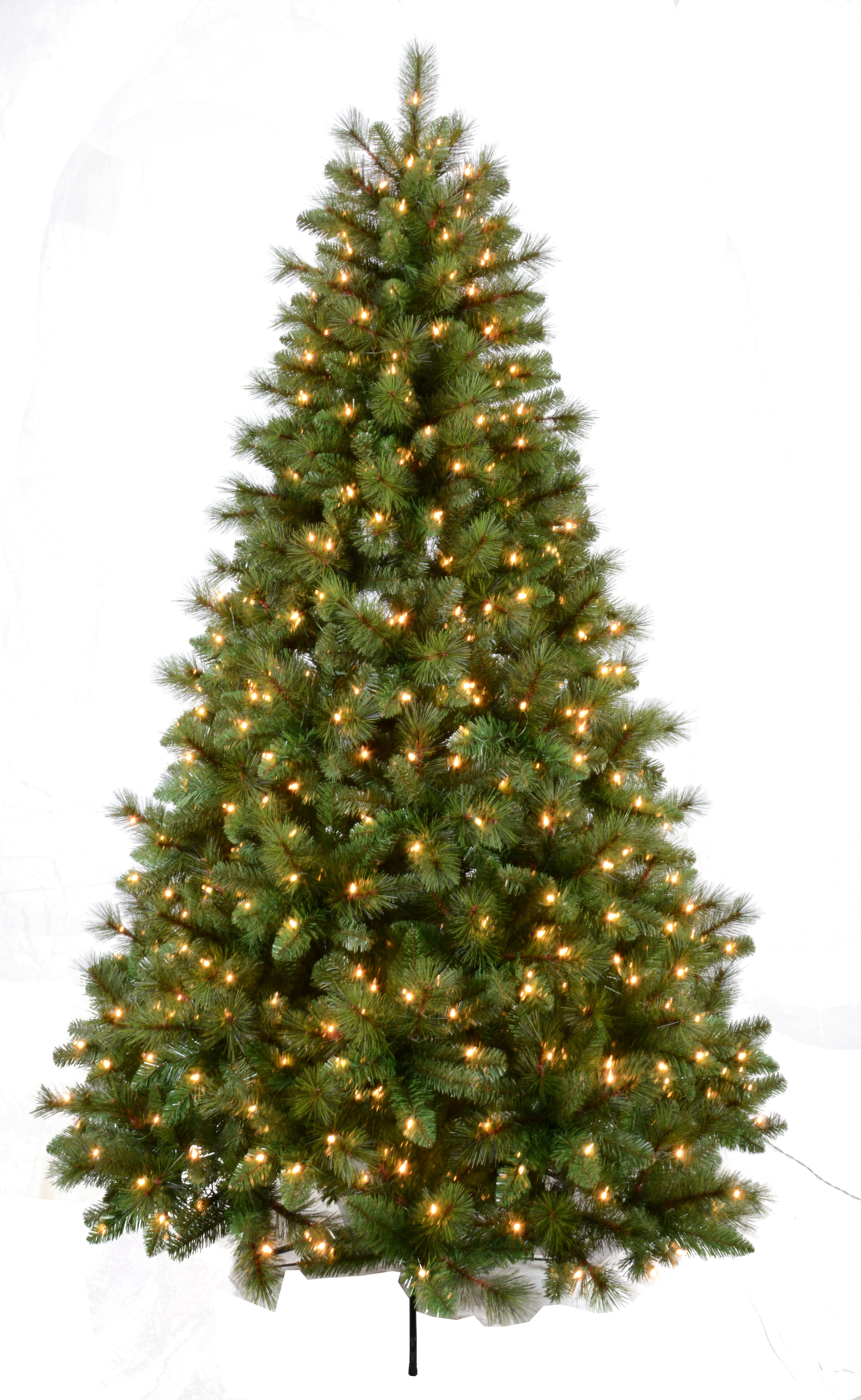 Artificial Christmas Tree Branches.Bavarian Mixed 7 5 Green Pine Artificial Christmas Tree With 650 Clear White Lights With Stand