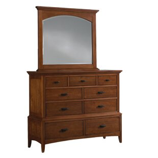 Benita 9 Drawer Media Chest with Mirror