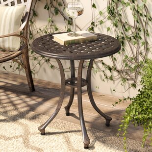 Kastner Outdoor Metal Side Table by Charlton Home Wonderful