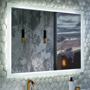 Best Deals LED Bluetooth Bathroom/Vanity Mirror By Orren Ellis
