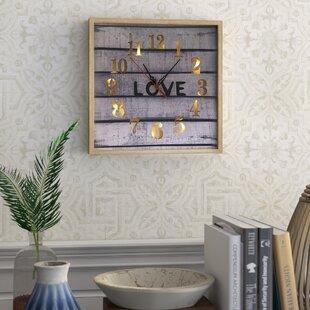 Lighted Wall Clocks | Wayfair