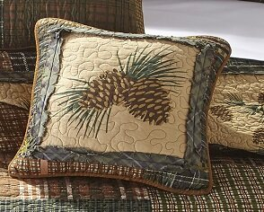 Fiora Country Pine Cotton Throw Pillow