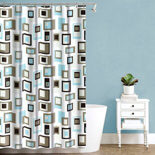 Oconto Cubist Fabric Single Shower Curtain