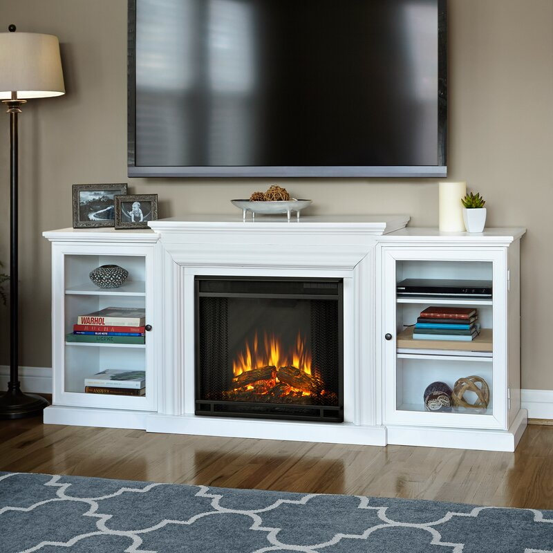 Electric Fireplace tv console with electric fireplace : Real Flame Frederick 72