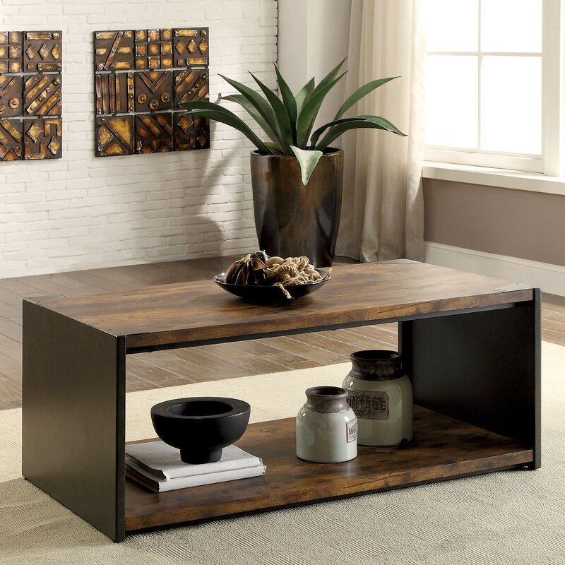 Transitional Coffee Tables 17 stories bourget transitional coffee table | wayfair