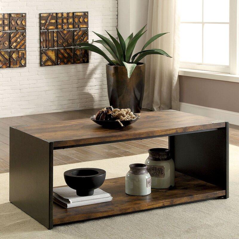 trevor transitional coffee table | allmodern