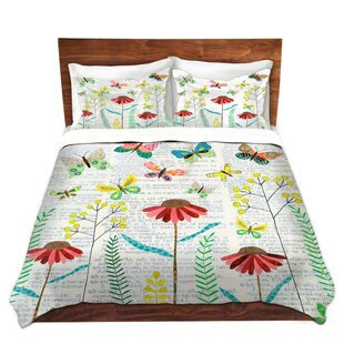 Red Barrel Studio Mateo Sascalia April Butterflies Microfiber Duvet Covers