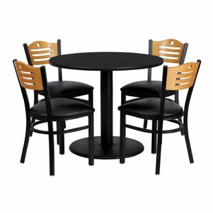 Ulrich Round Laminate 5 Piece Dining Set