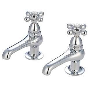 Elements of Design Widespread Bathroom Faucet with Metal Cross Handle