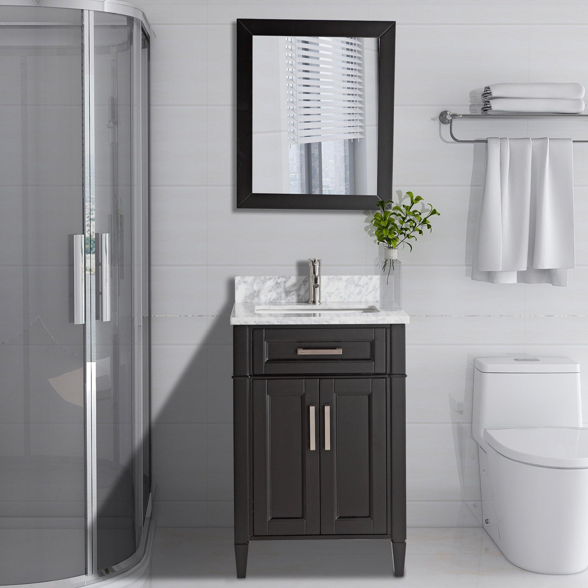 24 inch black bathroom vanity