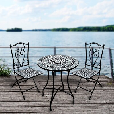 Aldwell 3 Piece Bistro Set by Bloomsbury Market Reviews