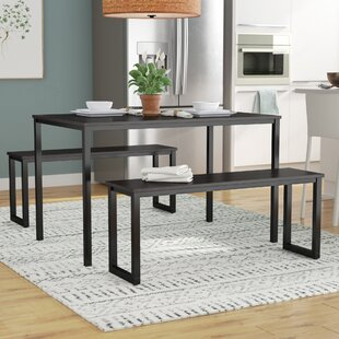 Rudder 3 Piece Dining Set Wrought Studio