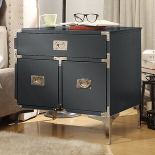 Read Reviews Marcelo 1 Drawer Nightstand by 17 Stories