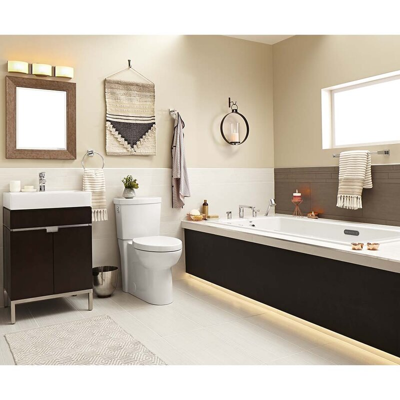 White Studio Ceramic Rectangular Vessel Bathroom Sink with Overflow (Part number: 0621001.020). See More from American Standard Shop