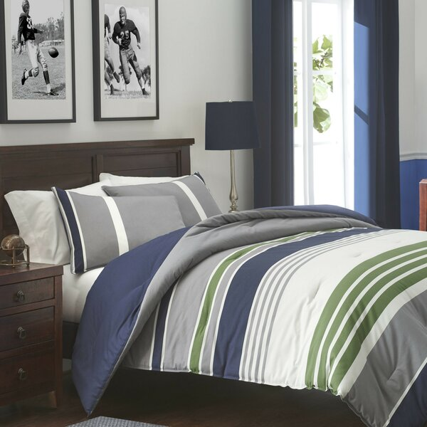 Izod Liam Cotton Reversible Comforter Set Reviews Wayfair