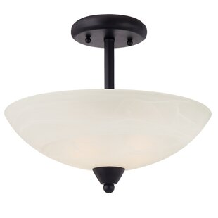 Jefferson 2-Light Semi-Flush Mount by Charlton Home