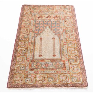 Handwoven Wool Cream/Yellow Rug by Parwis