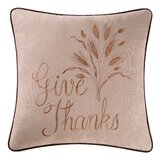 Glazier Give Thanks 100% Cotton Throw Pillow
