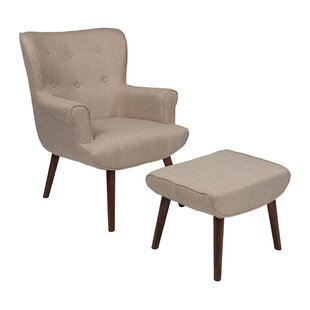 Ebern Designs Mize Wingback Chair and Ottoman