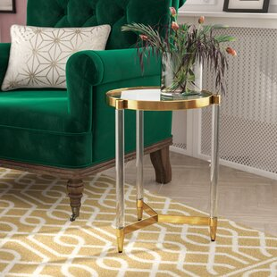 Everly Quinn Sudie Glass End Table