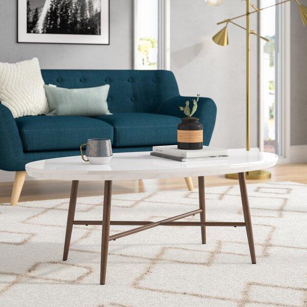 George Oliver Umstead Oval Engineered Wood Coffee Table U0026 Reviews   Wayfair