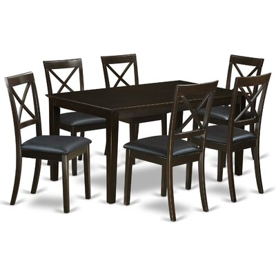 Smyrna 7 Piece Dining Set Charlton Home Color: Cappuccino