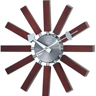 Simmerman Telechron Modern Wall Clock in Walnut