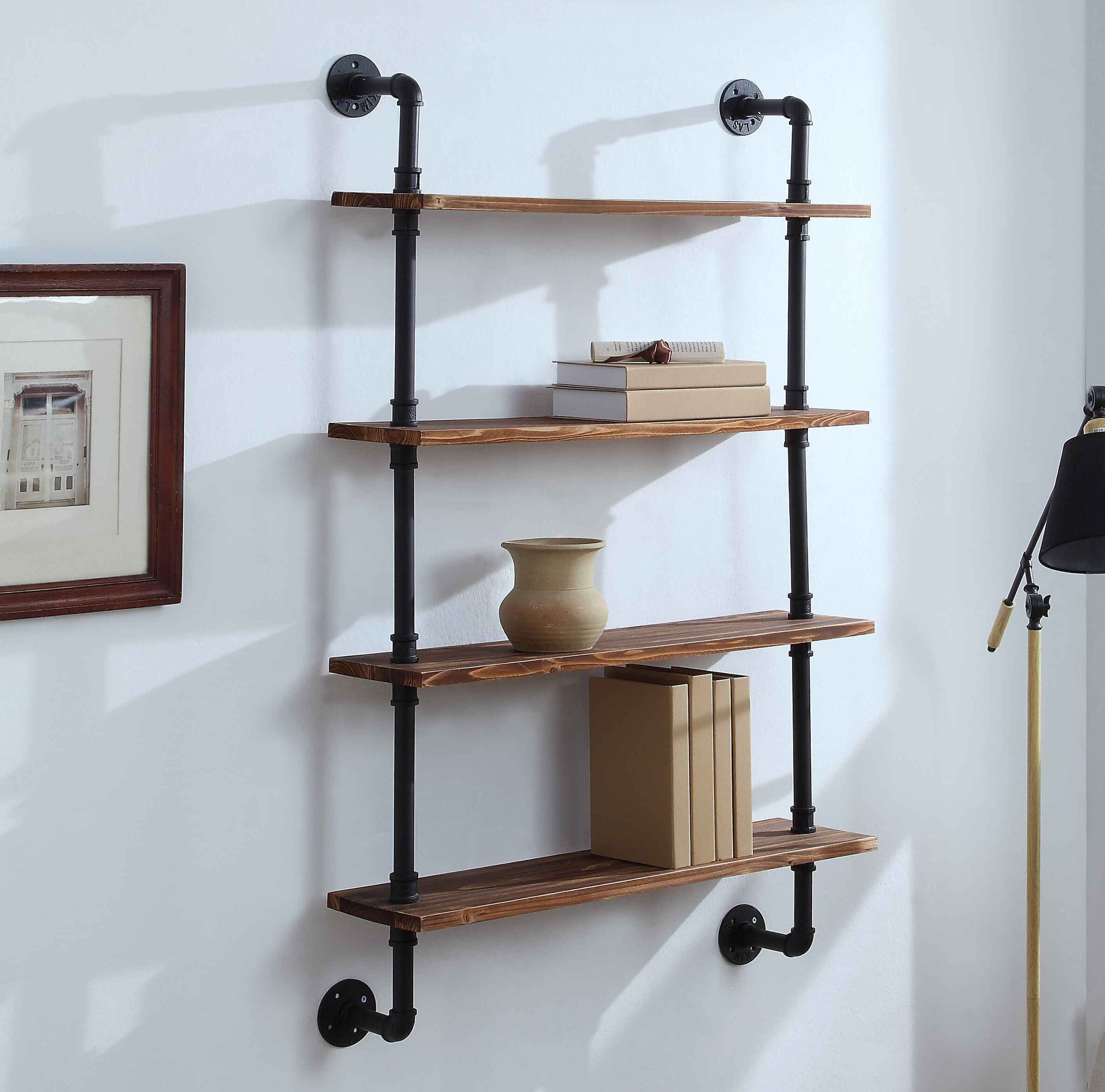 Kitchen Utensil Holder Industrial Pipe Black Iron Pipe Pipe Tool Caddy