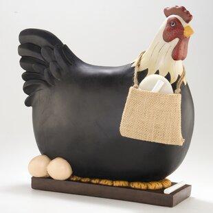 3-D Chicken Figurine Free Standing Chalkboard