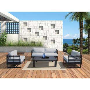Hornback Outdoor 4 Piece Sofa Seating Group