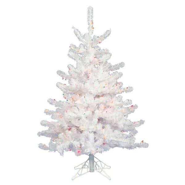 3ft White Christmas Tree.3ft White Pine Artificial Christmas Tree With 45 White Lights With Stand