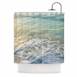 'Ocean Beach Water' Photography Single Shower Curtain