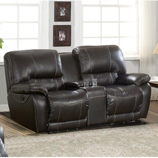 Shop Womble Leather Reclining Loveseat by Latitude Run