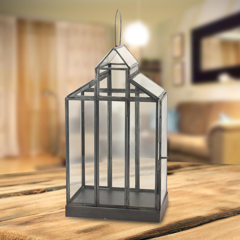 Gracie Oaks Donna Glass Terrarium Lantern Wayfair