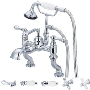 Stonington Double Handle Deck Mounted Roman Tub Faucet With Handshower by dCOR design