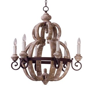 One Allium Way Valmer 6-Light Chandelier