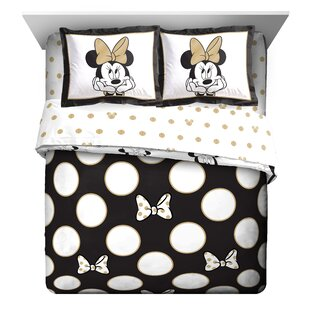 minnie mouse dots reversible comforter set - Mickey Mouse Bedding