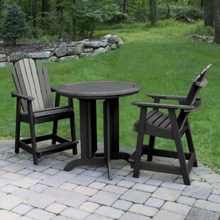 Longshore Tides Deerpark 3 Piece Counter Height Bistro Set