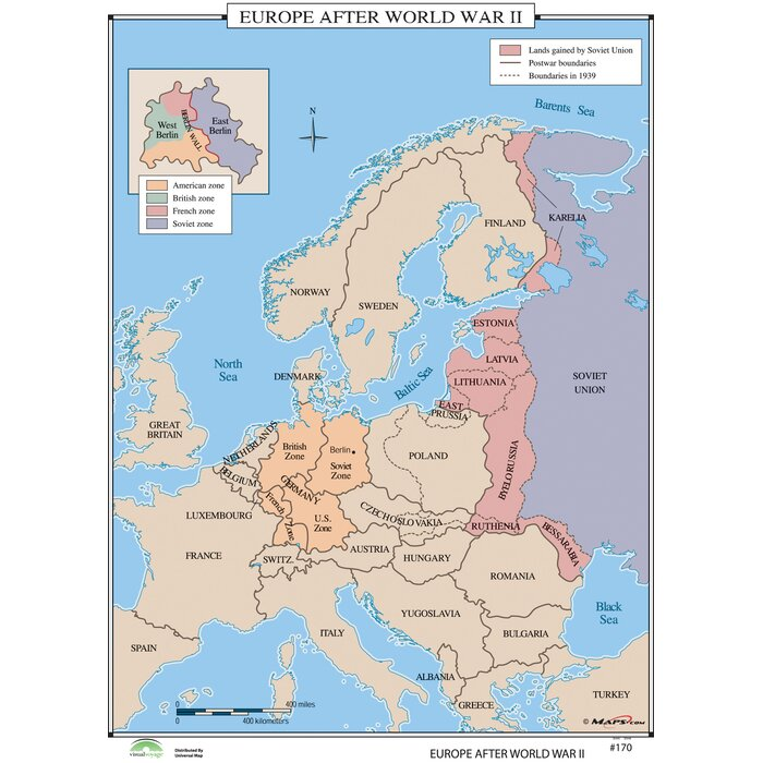 Universal map world history wall maps europe after world war ii world history wall maps europe after world war ii gumiabroncs Images