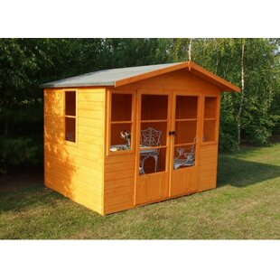 Pisogne 8.5 X 6 Ft. Shiplap Summer House By Sol 72 Outdoor