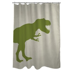 T-Rex Stripe Single Shower Curtain
