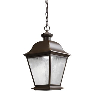 Compare prices Darrah 1-Light Glass Shade Outdoor Hanging Lantern By Three Posts